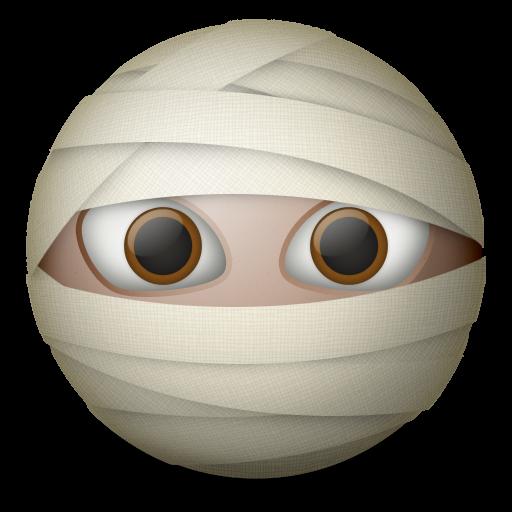 Wide eye icon png. Eyeballs clipart mummy
