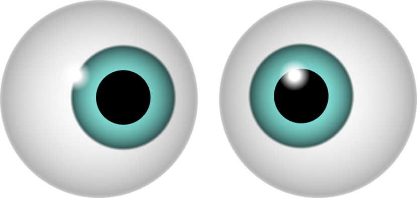 Eyeballs clipart pretty eye. Round eyes googly