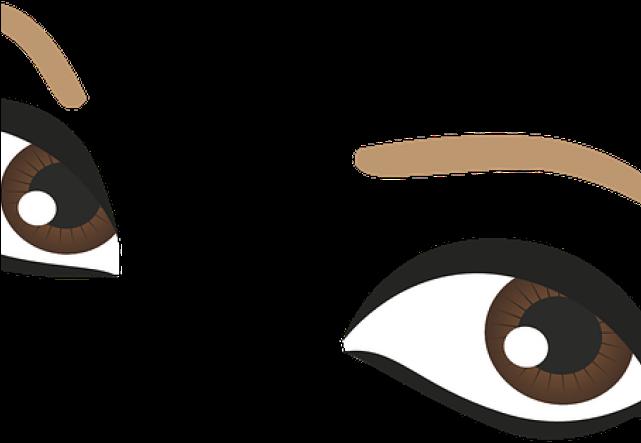Brown eyes cartoon png. Eyeballs clipart pretty eye