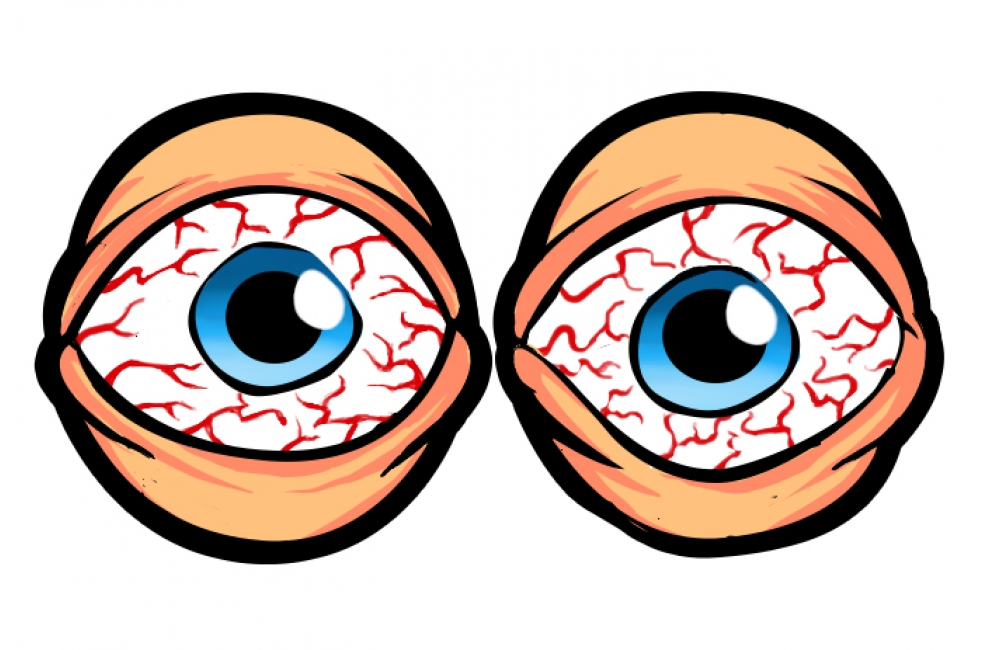 Eyeballs clipart red eye, Eyeballs red eye Transparent ...