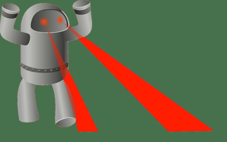 Robot laser eyes archer. Eyeballs clipart robotic eye