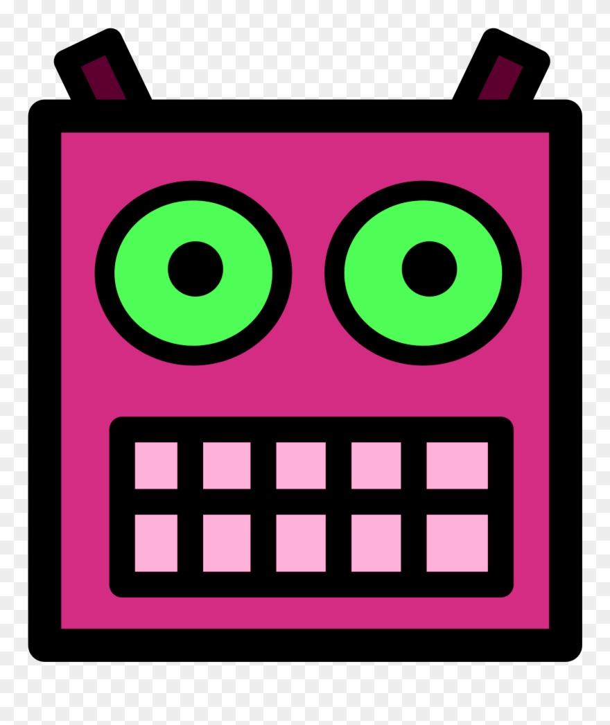 Eyeballs clipart robotic eye. Pink or plum robot