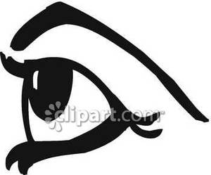 Eyeballs clipart side view. Eye from the royalty