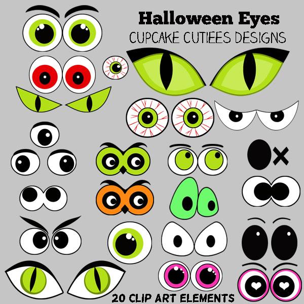 Free halloween eyes cliparts. Eyeballs clipart spooky