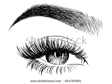 Eyebrow clipart. Drawing blue eyes pencil