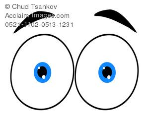 Eyebrow clipart. A pair of blue