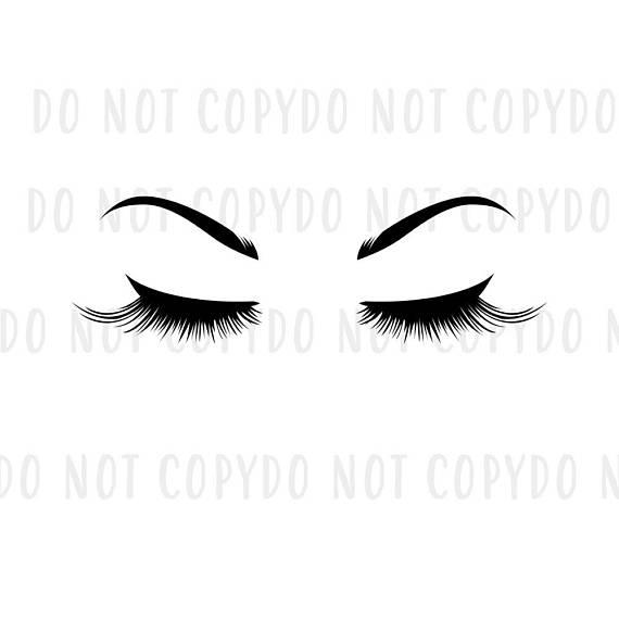 Svg eyelashes and eyebrows. Eyebrow clipart