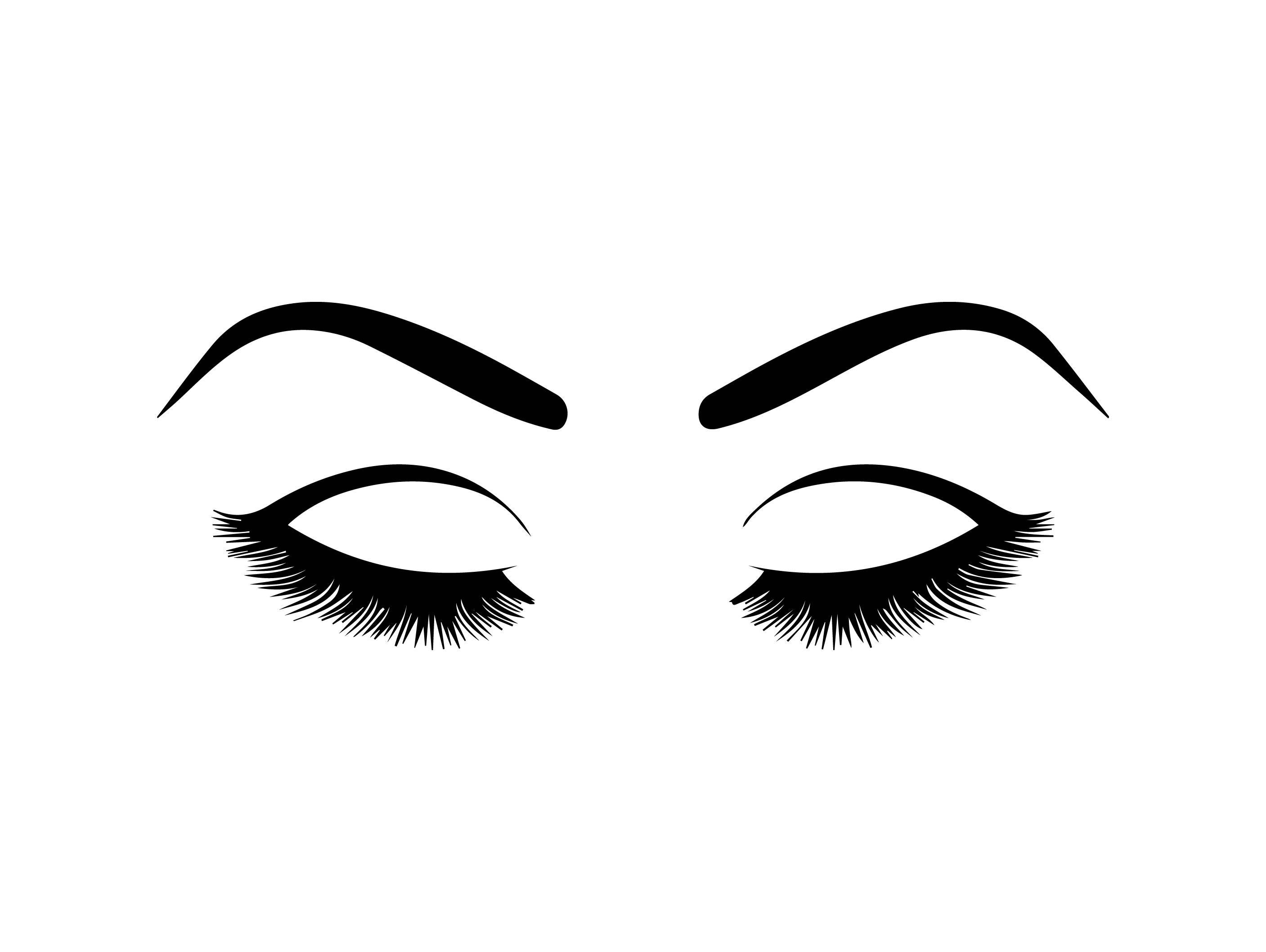 Eyelashes vision human female. Eyebrow clipart