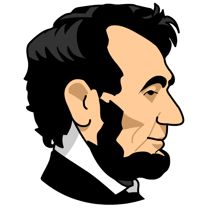 Presidents portrait pencil and. Abraham lincoln clipart
