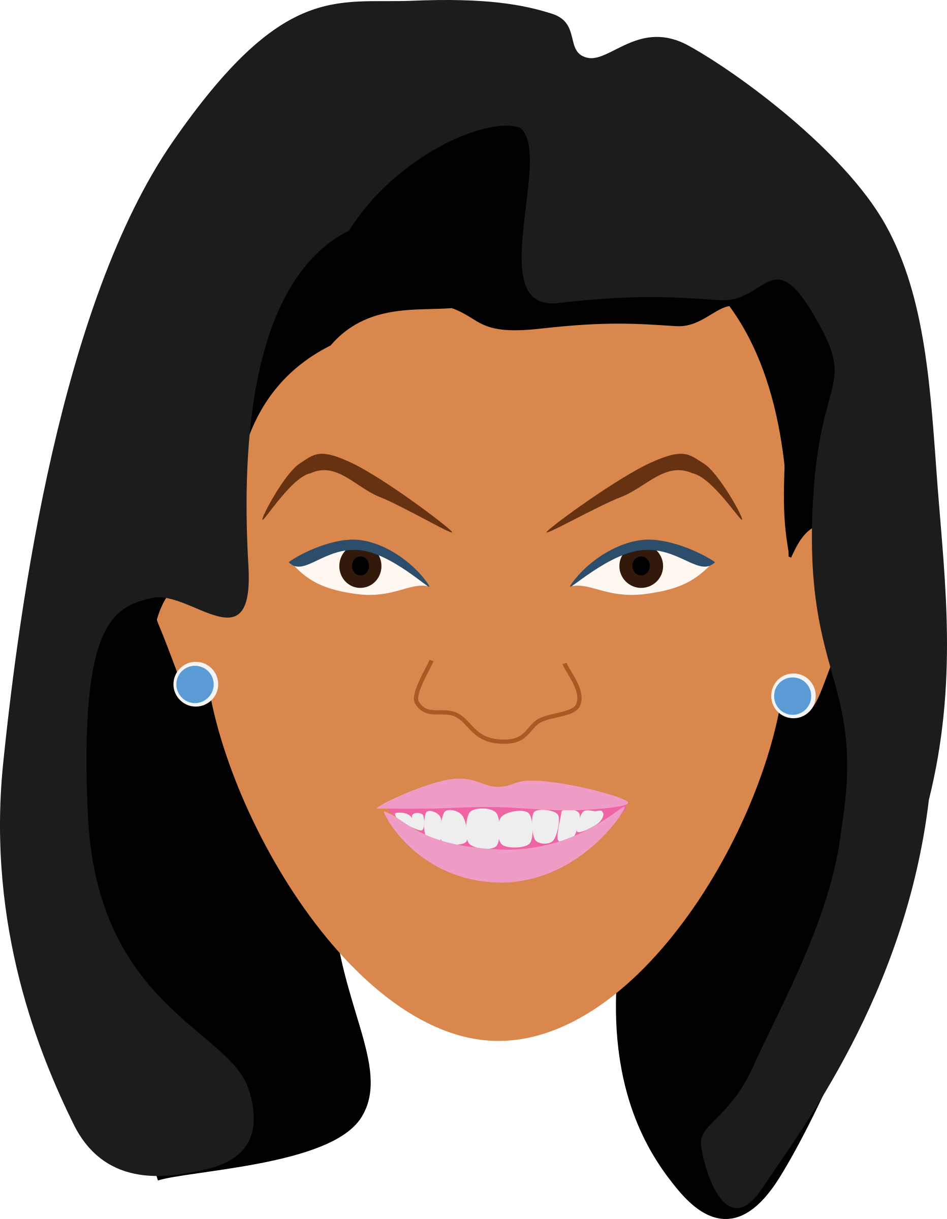 Eyebrow clipart arched. Woman in makeup big