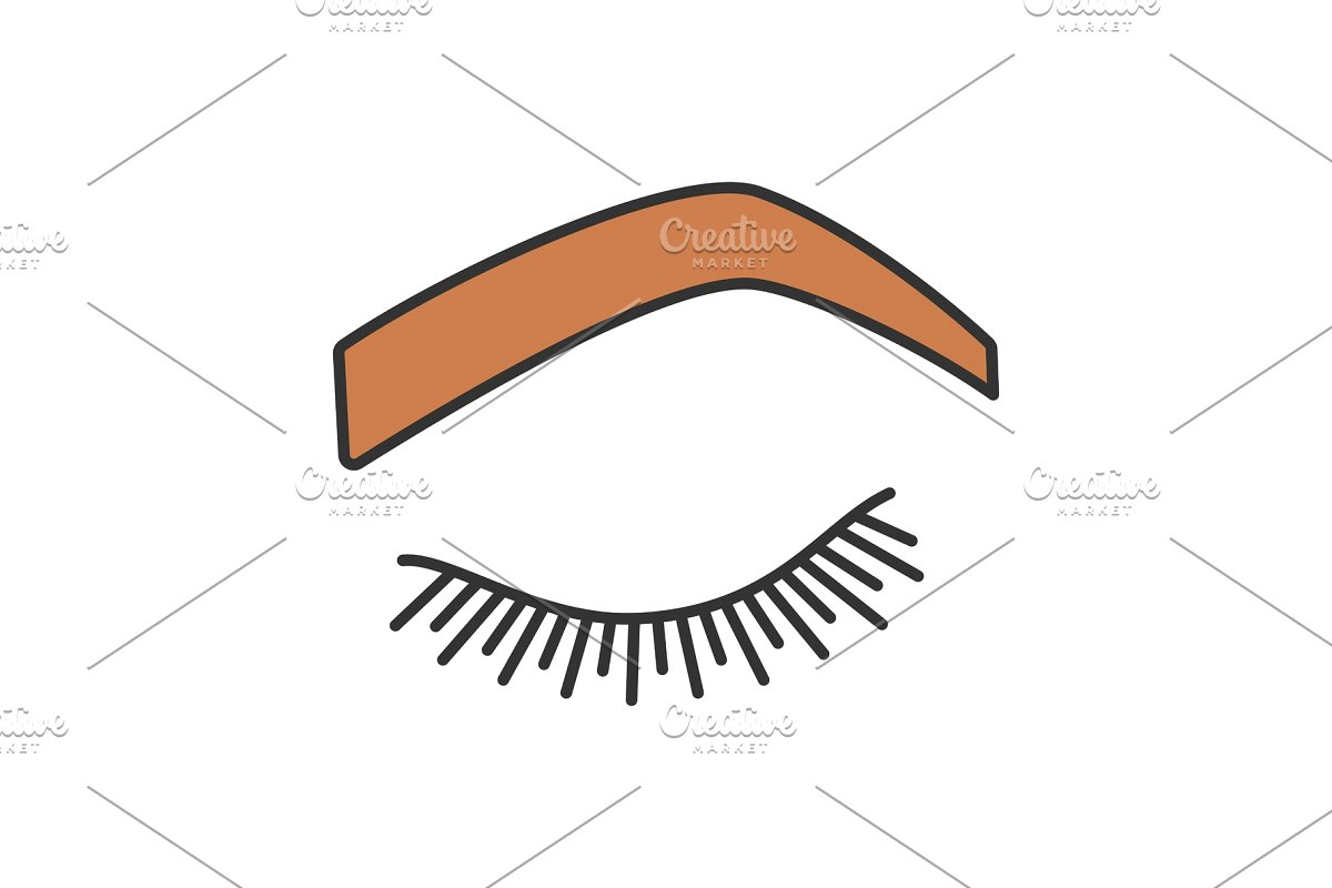 Steep shape icon . Eyebrow clipart arched