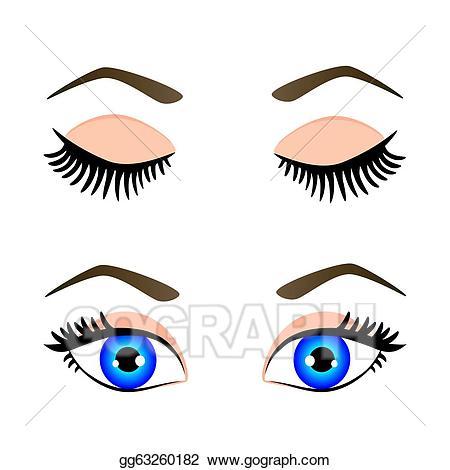 Clip art vector silhouette. Eyebrow clipart blue eye
