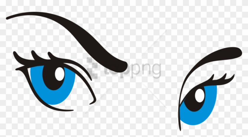 Eyebrow clipart blue eye. Free png cartoon with