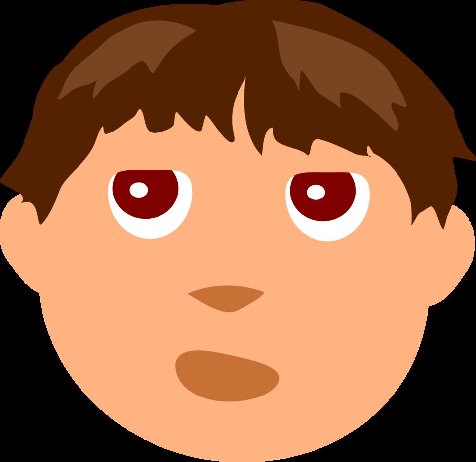 Public domain clip art. Face clipart boy's