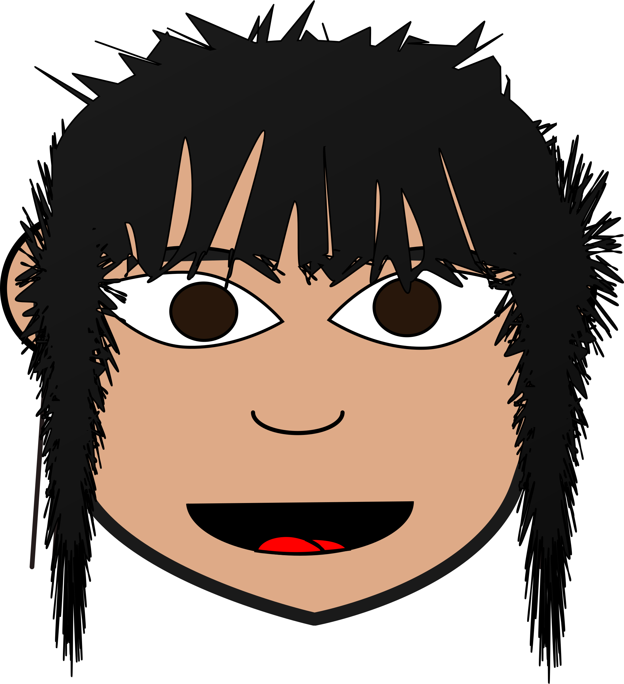 Nose clipart nose hair. Bedhead girl big image