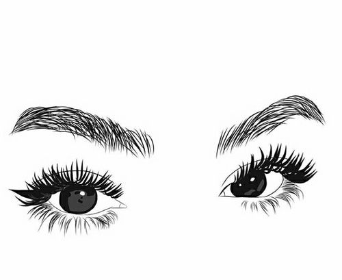 Image de black and. Eyelashes clipart outline