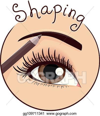 Eyebrow clipart eyebrow pencil. Eps vector shaping icon