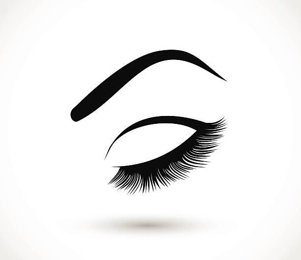 Eyelashes clipart perfect eyebrow. Eyelash free download best