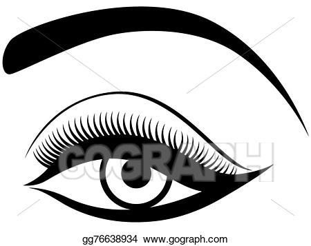 Eyebrow clipart eyelid. Eps illustration eye with