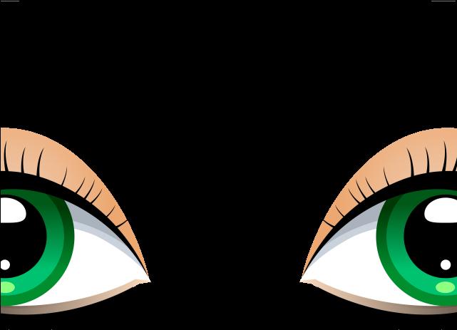 Green eyes human eye. Eyebrow clipart eys