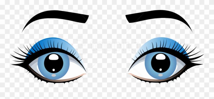 Eyebrow clipart girl eyebrow. Download blue female eyes