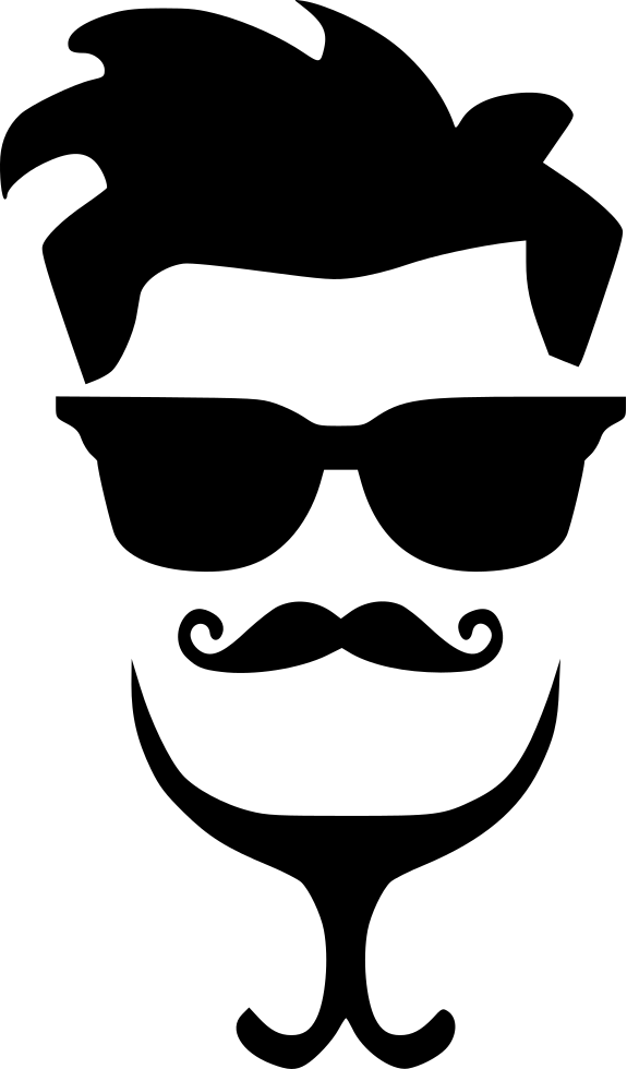 Gay hipster man hair. Eyebrow clipart glass mustache nose