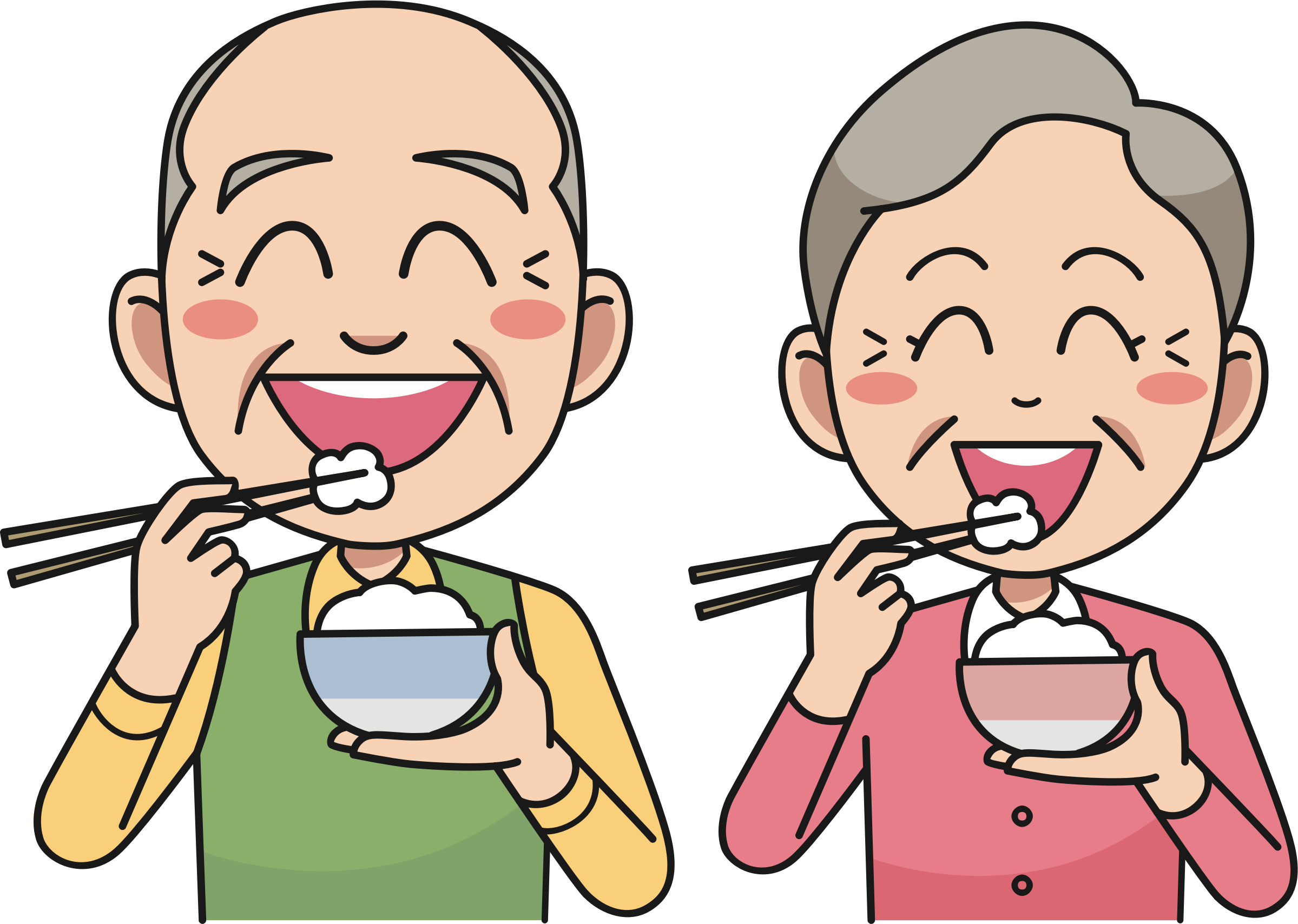 Foods clipart rice. Couple eating big image