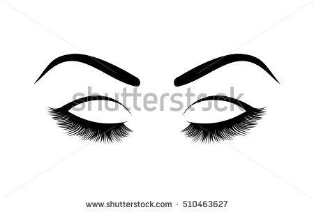 Eyelashes vector illustration abstract. Eyelash clipart animated