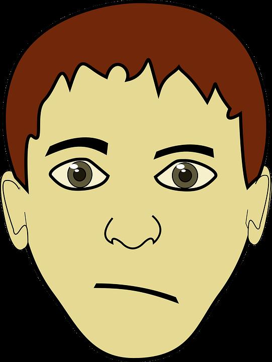 Boy brown eyes . Eyebrow clipart kid