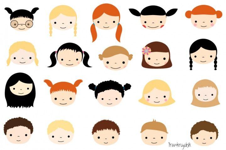 Cute faces set kawaii. Markers clipart kid