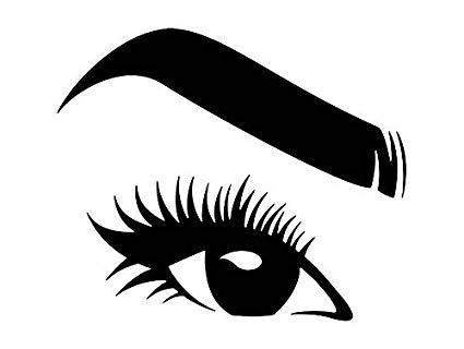 Eyebrow clipart lady eye. Amazon com yetta quiller