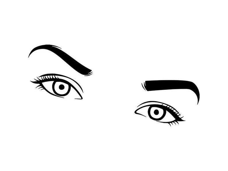 Eyelash clipart women's eye. Women eyebrow eyeball beauty