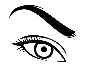 Human etsy . Eyebrow clipart lady eye