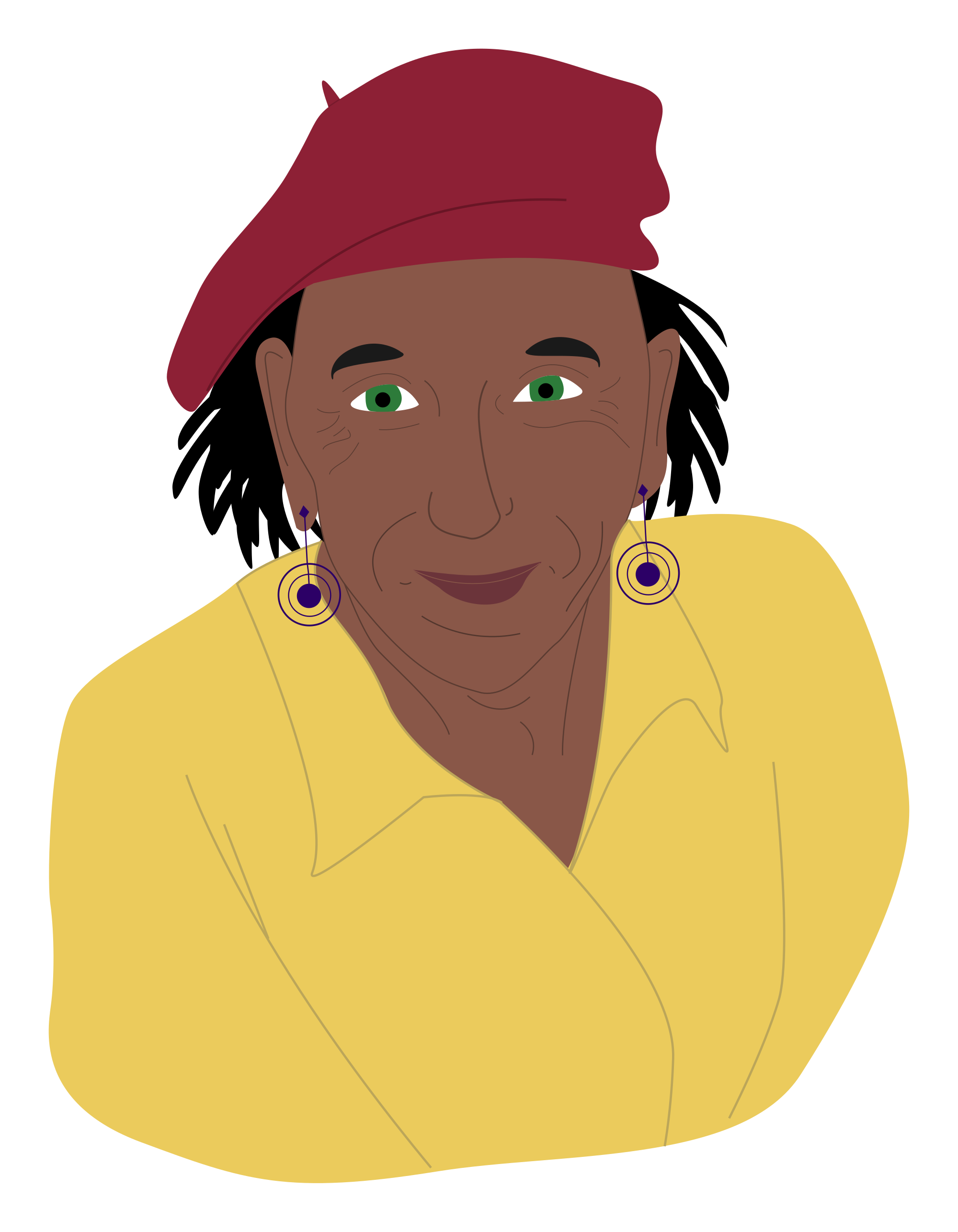 File woman in red. Eyebrow clipart les