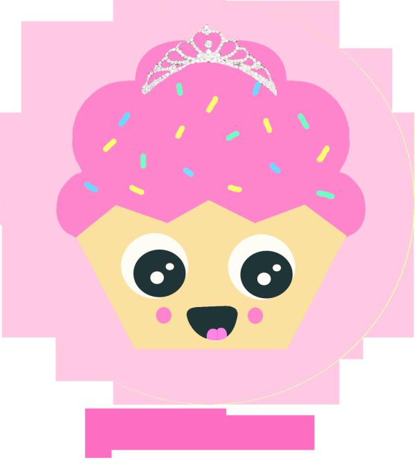 Eyebrow clipart princess. Kawaii cupcake by slypinkspy