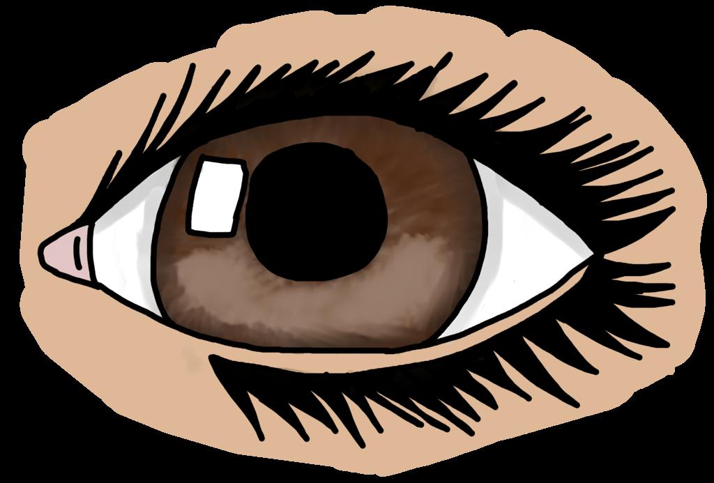 Semi eye by mewmewcupake. Eyelash clipart realistic