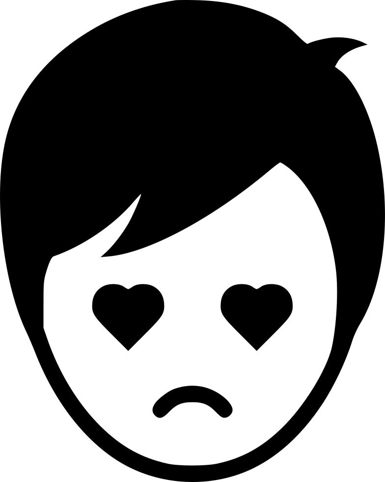 Eyebrow clipart sad. Love boy man svg