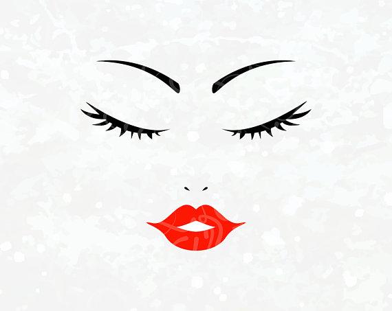 Eyelashes clipart mouth. Pin on eyes lips