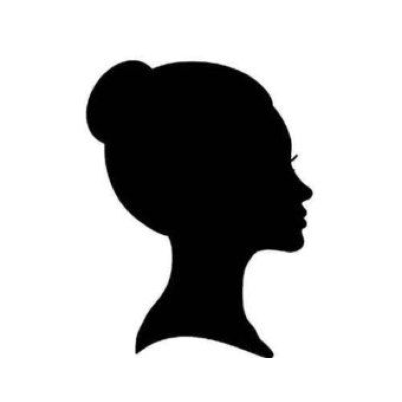 Neck clipart girl short hair. Head silhouette at getdrawings