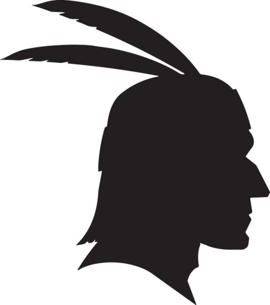 sa of native. Feathers clipart silhouette