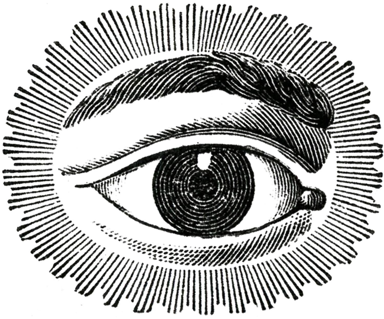 Free image watching eye. Steampunk clipart public domain