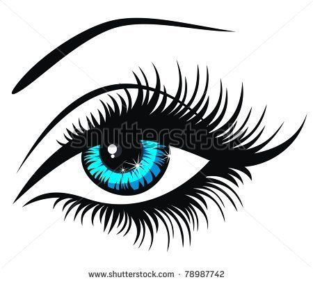 Eye silhouette vector free. Eyes clipart lady