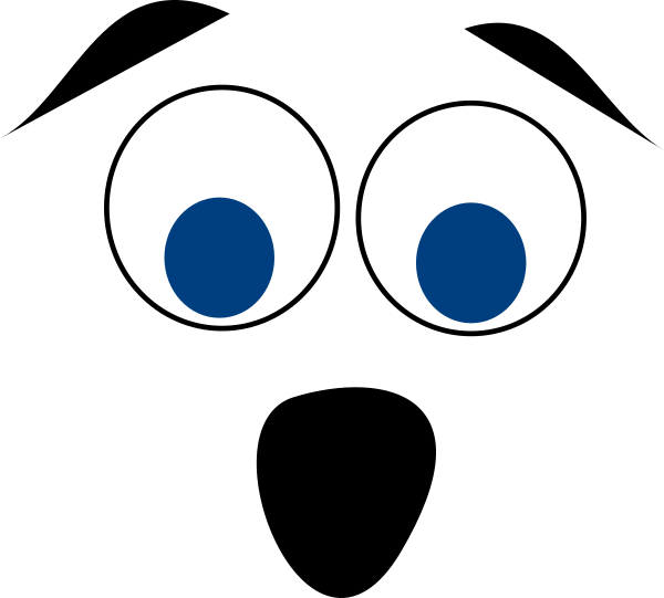 Blue eyed face clip. Surprise clipart surprised man