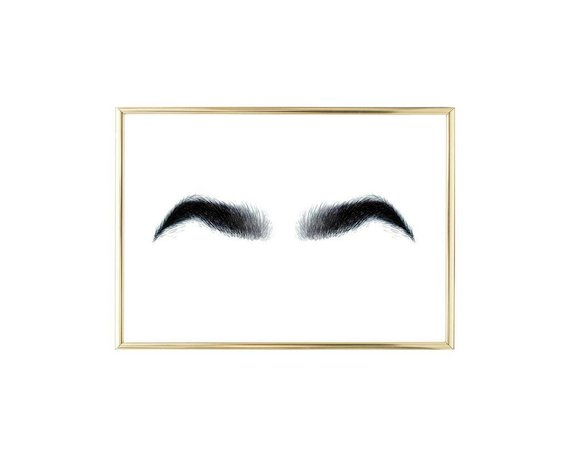 Eyebrow clipart thick eyebrow. Bushy eyebrows instant download