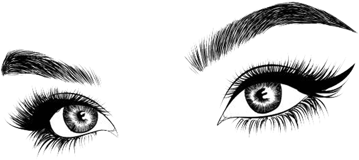 Hd picture eyelash and. Eyebrow clipart transparent background