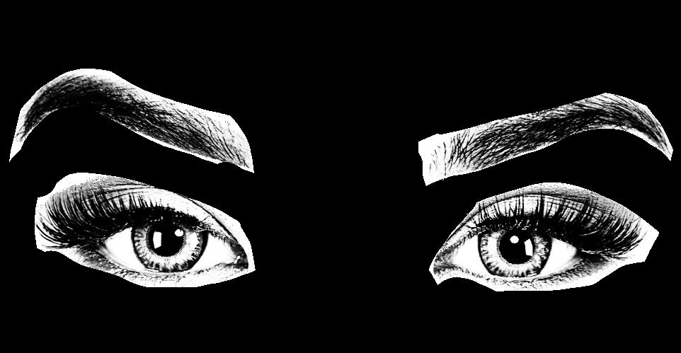 Eyes eyebrows vision see. Eyebrow clipart woman's eye