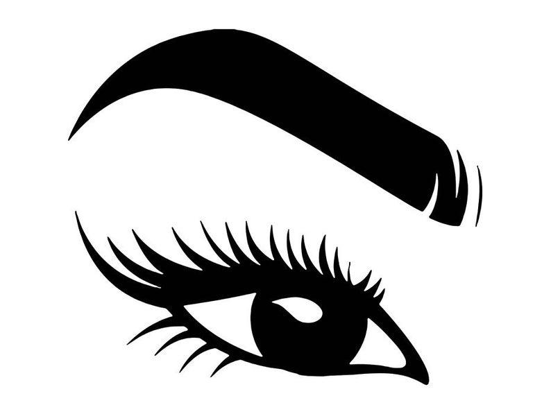 Women eyebrow eyeball beauty. Eyelash clipart women's eye