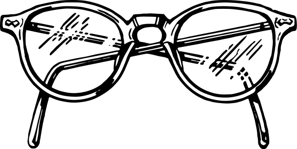 Clip art free panda. Eyeglasses clipart