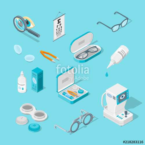 Eyeglasses clipart eye doctor equipment. Care and health vector