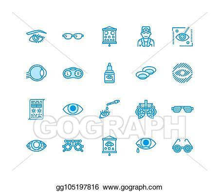 Eyeglasses clipart eye doctor equipment. Clip art vector ophthalmology